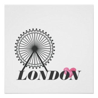 Pôster Poster da cidade de Londres