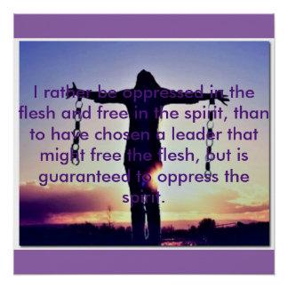Pôster Poster de espirito livre