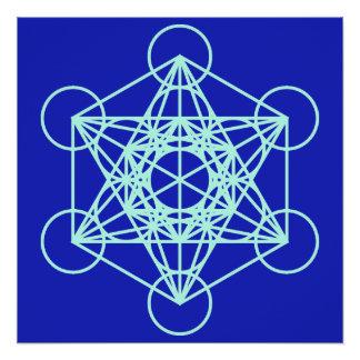 Pôster Poster do azul da mandala de Metatron