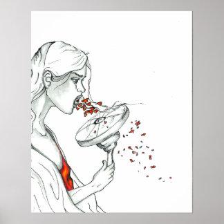 """Pôster """"Poster do coração Shredded"""""""