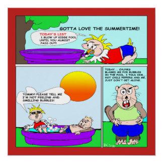 Pôster Poster do divertimento do verão