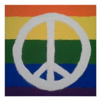 Pôster Poster do sinal de paz do arco-íris