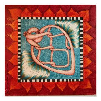 Pôster Poster grande do coração da curvatura