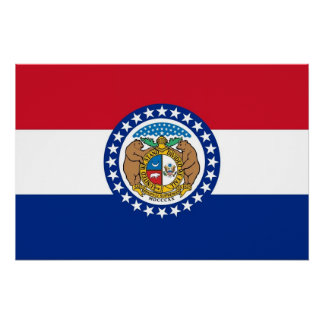 Pôster Poster patriótico da parede com a bandeira de