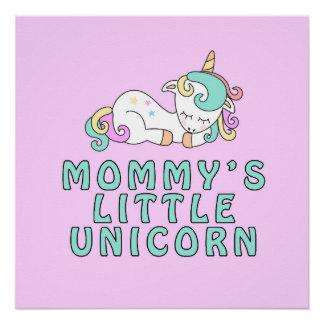 Pôster Poster pequeno do unicórnio da mamã