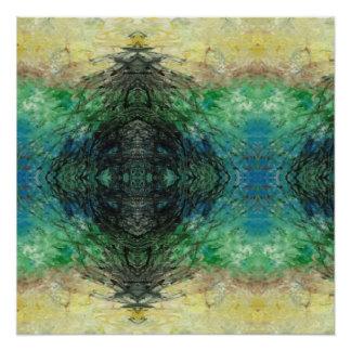 Pôster Poster semi-lustroso da arte acrílica abstrata de