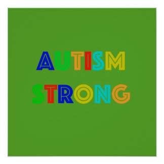 Pôster Poster verde forte do autismo