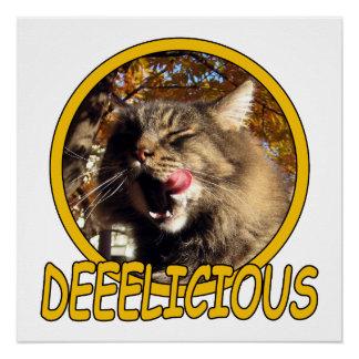 Pôster Posters deliciosos do gato