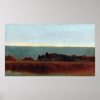 Poster Prado de sal de John Frederick Kensett em outubro