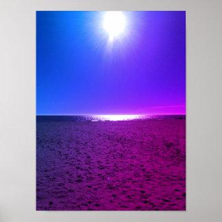Pôster Praia azul & roxa