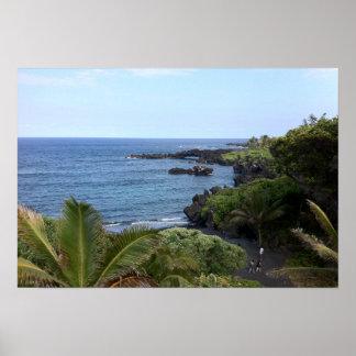 Poster Praia da estrada de Hana, Maui, Havaí