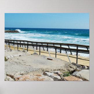 Pôster Praia de negligência do passeio à beira mar