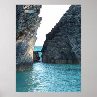 Pôster Praia em ferradura Bermuda