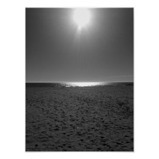 Poster Praia monocromática