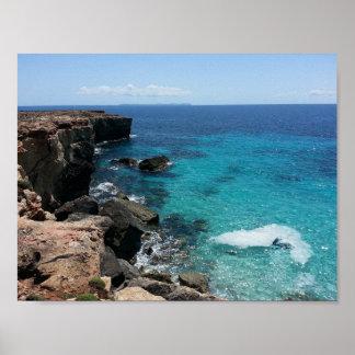 Pôster Praia rochosa