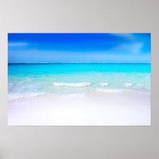 Pôster Praia tropical com um mar de turquesa