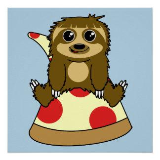 Pôster Preguiça da pizza