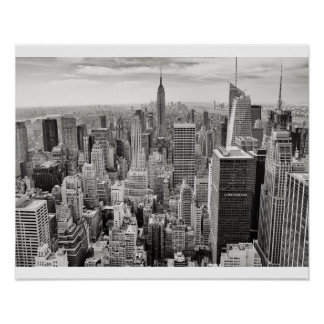 Poster Preto & branco da Nova Iorque