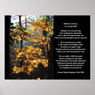 Poster Primavera de Gerard Manley Hopkins e poema da