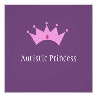 Pôster Princesa autística Poster