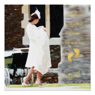Pôster Princesa Charlotte Elizabeth Diana de HRH - poster