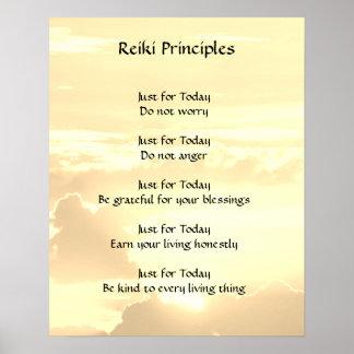 Pôster Princípios de Reiki