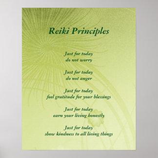 Poster Princípios de Reiki
