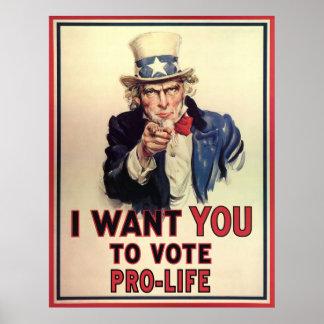 Pôster Pro-Vida do voto