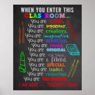Pôster Professor de arte - quando você incorporar regras