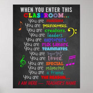 Pôster Professor de música - quando você incorporar
