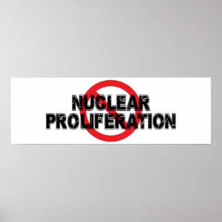 Pôster Proliferação nuclear da proibição