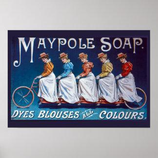 Poster Propaganda colorida do sabão