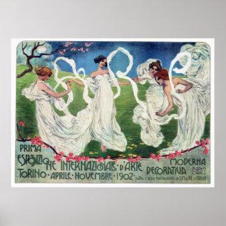 Poster Propaganda da exposição das artes do mundo de