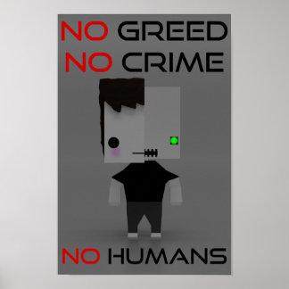 Poster Propaganda do partido do robô