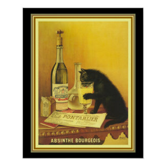 Pôster Propaganda do vintage para o absinto burguês