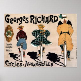 Poster Propaganda francesa da bicicleta do vintage