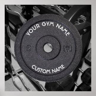 Pôster Proprietário ou usuário do Gym com o texto curvado