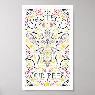 Pôster proteja nossas abelhas