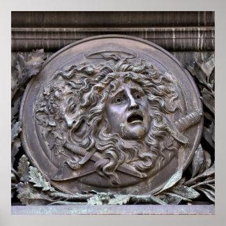 Pôster Protetor do Medusa de Athena