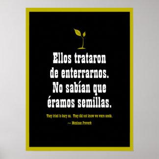 Poster Provérbio mexicano