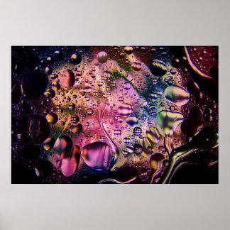 Poster psicadélico abstrato 1