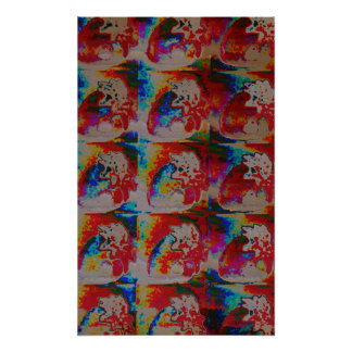 Poster psicadélico das morangos