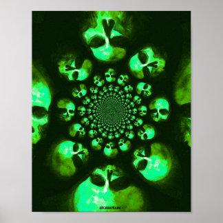Poster psicadélico de Mori da lembrança no verde