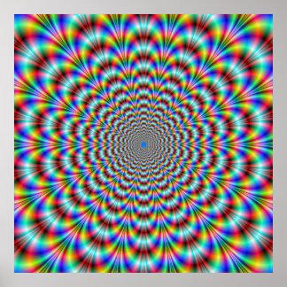 Poster psicadélico do dobrador do olho