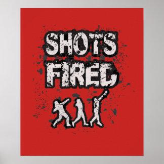 Poster psto tiro do atirador do atletismo