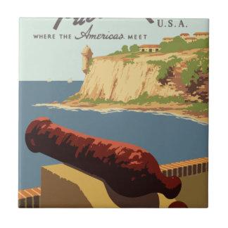 Poster Puerto Rico das viagens vintage