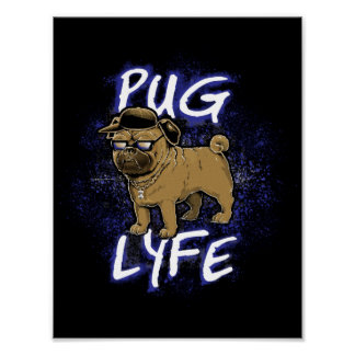 Poster Pug Lyfe