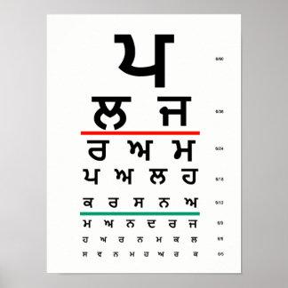 Pôster Punjabi da carta de olho