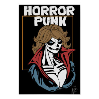 Pôster Punk do horror