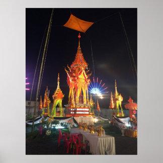 Pôster Pyre fúnebre em Wat Chetta Woracoop, Chiang Mai